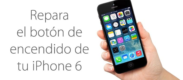 El botón de encendido de iPhone 6 roto se puede reparar.