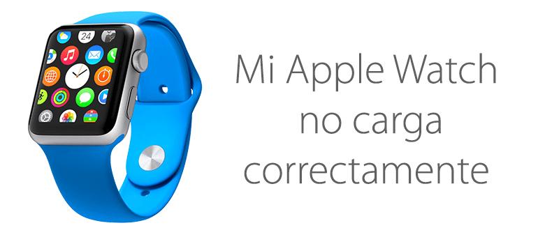 Repara tu Apple Watch si no carga la batería