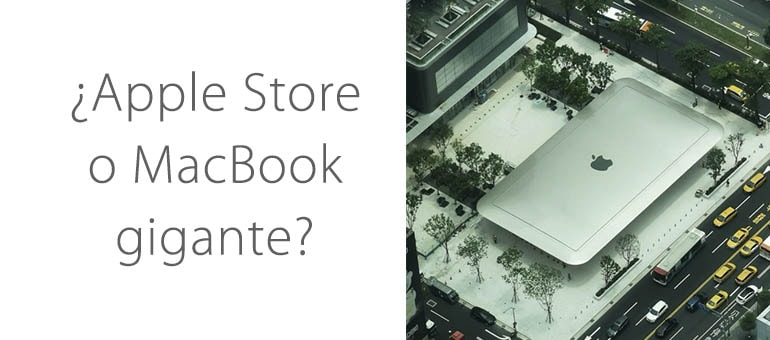 Nueva Apple Store con forma de MacBook