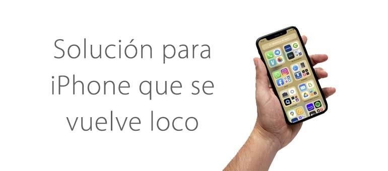 ¿Se puede reparar la pantalla de mi iPhone si se vuelve loco?