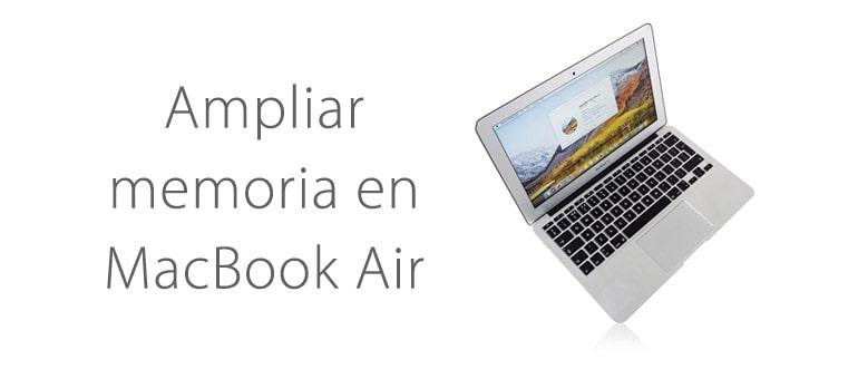 Se puede ampliar memoria Macbook Air