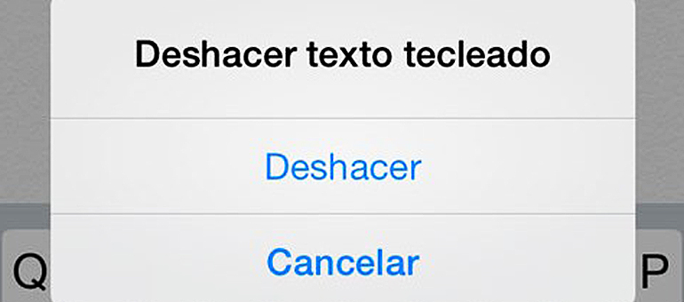 deshacer iphone