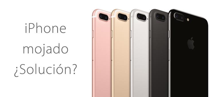 Repara tu iPhone 7 si está mojado en nuestro Servicio Técnico Apple