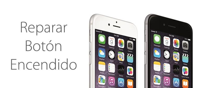 El botón de encendido de iPhone 6 y iPhone 6 Plus no funciona