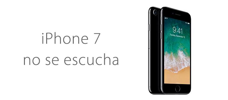 Cambiar el altavoz de iPhone 7 si no se escucha en llamadas