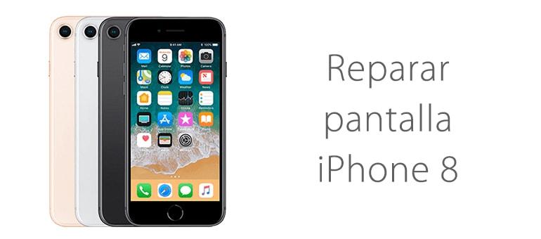 Cambiar pantalla rota cristal iPhone 8 en iFixRapid